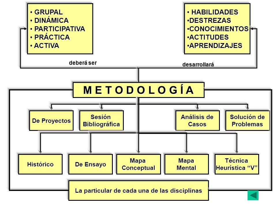 La particular de cada una de las disciplinas