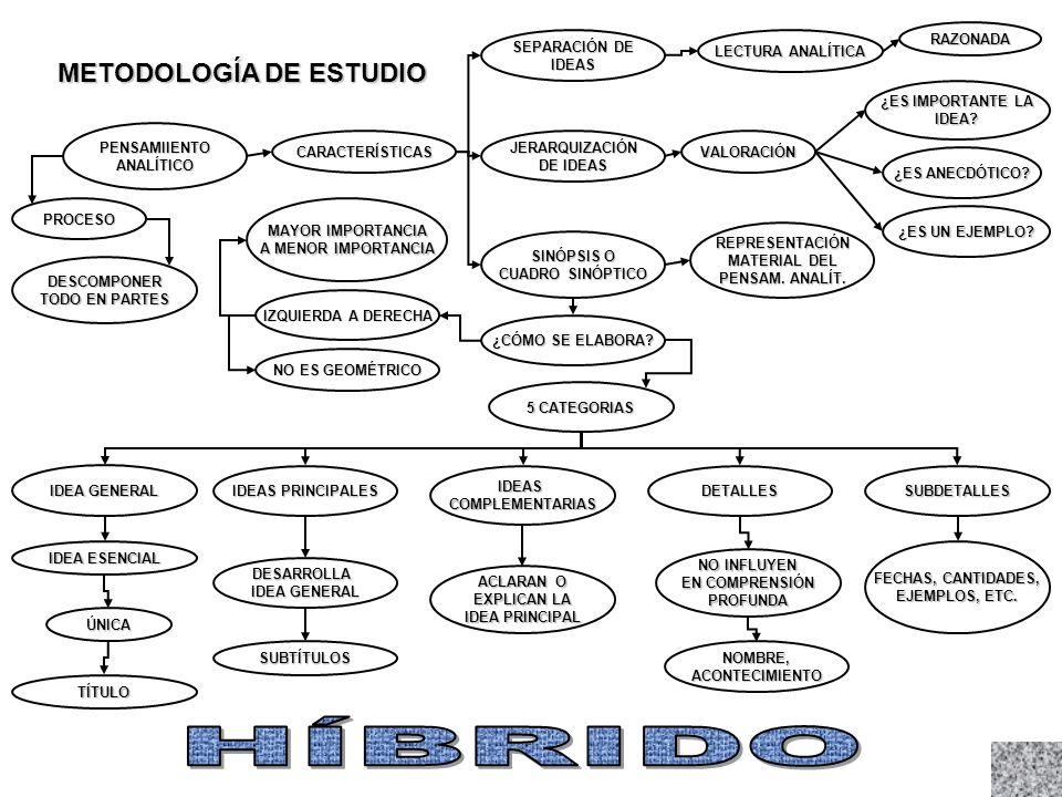 METODOLOGÍA DE ESTUDIO