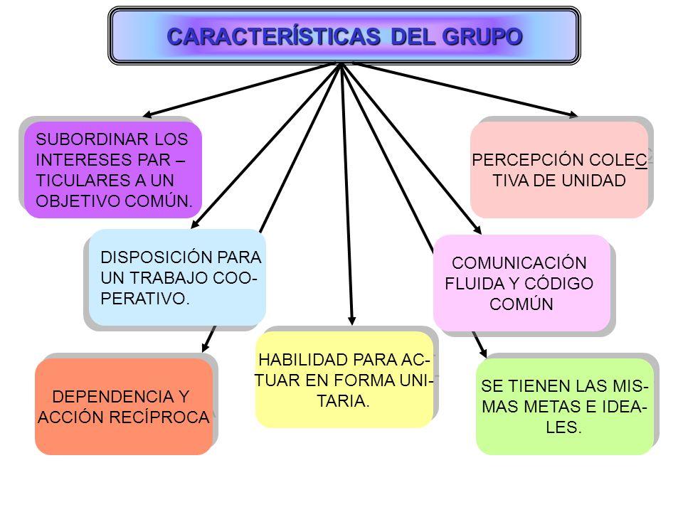 CARACTERÍSTICAS DEL GRUPO