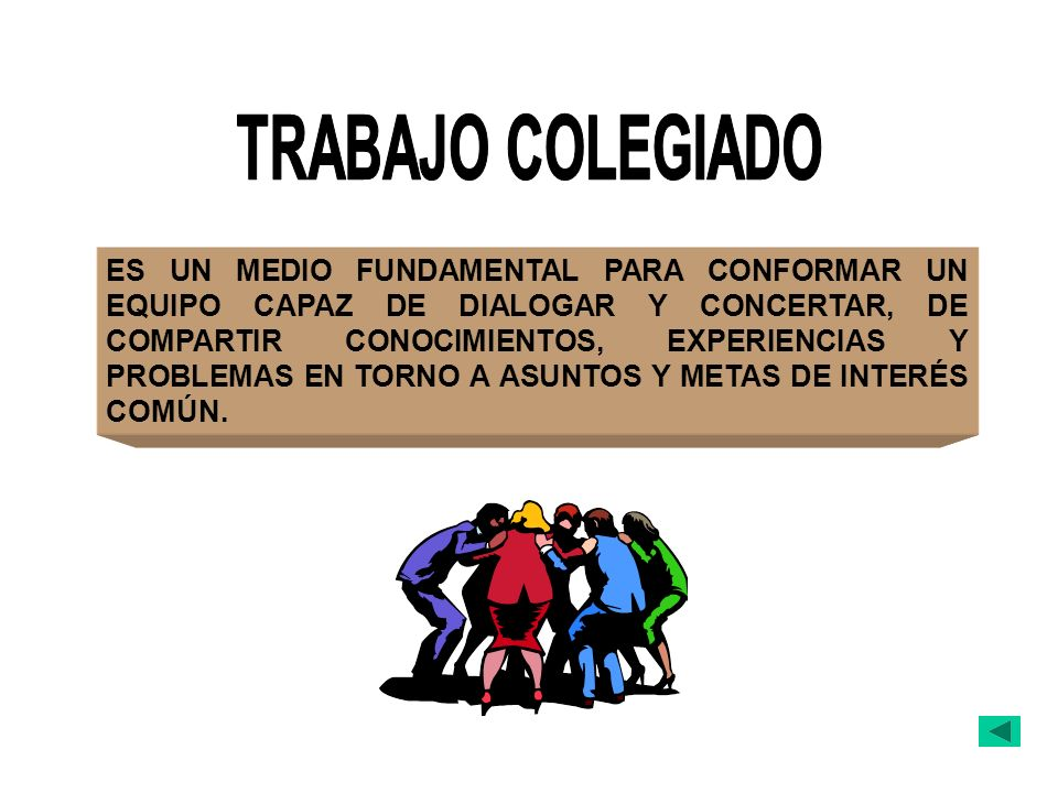 TRABAJO COLEGIADO