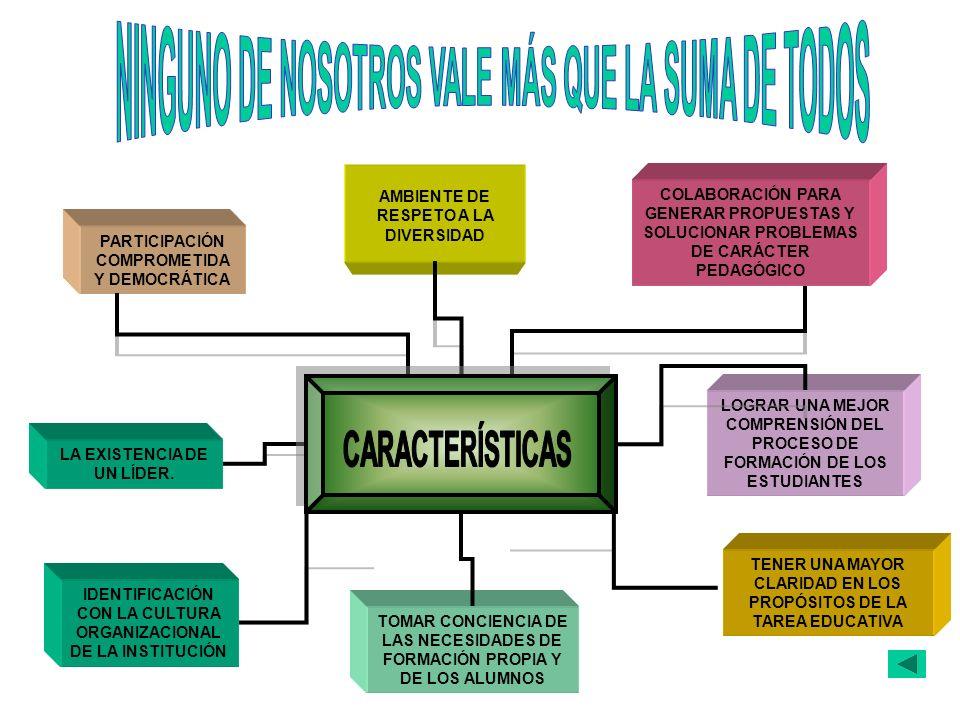 NINGUNO DE NOSOTROS VALE MÁS QUE LA SUMA DE TODOS CARACTERÍSTICAS