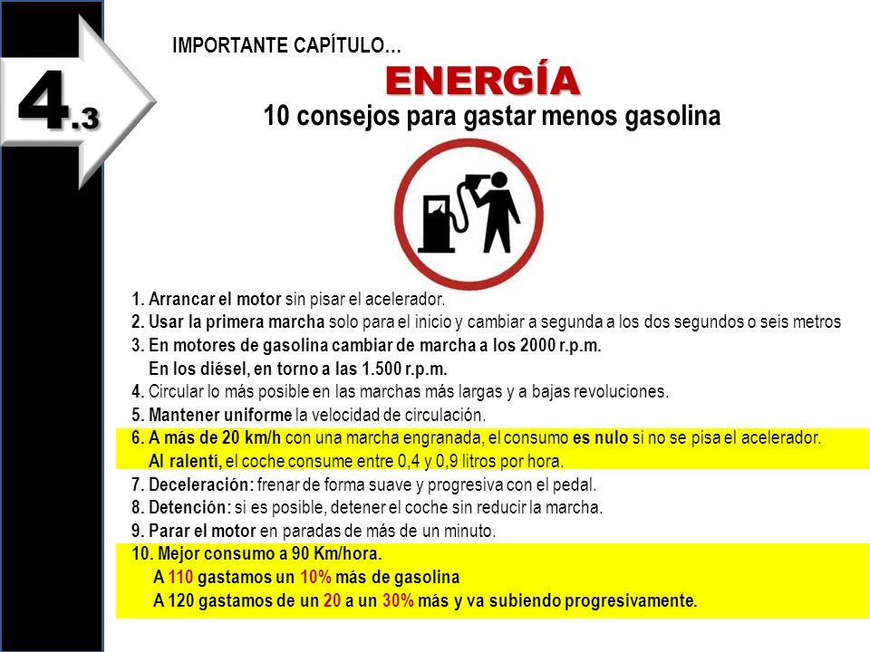 10 consejos para gastar menos gasolina