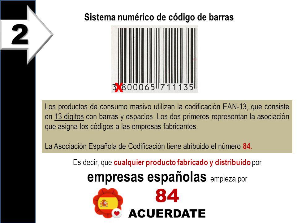 2 x 84 empresas españolas empieza por ACUERDATE