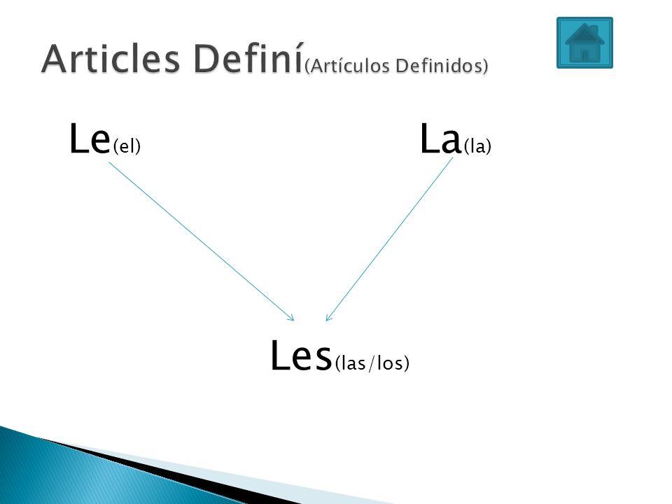 Articles Definí(Artículos Definidos)