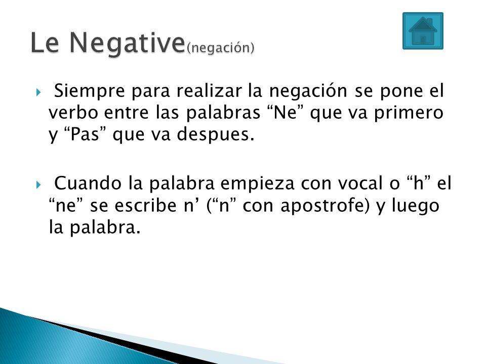 Le Negative(negación)