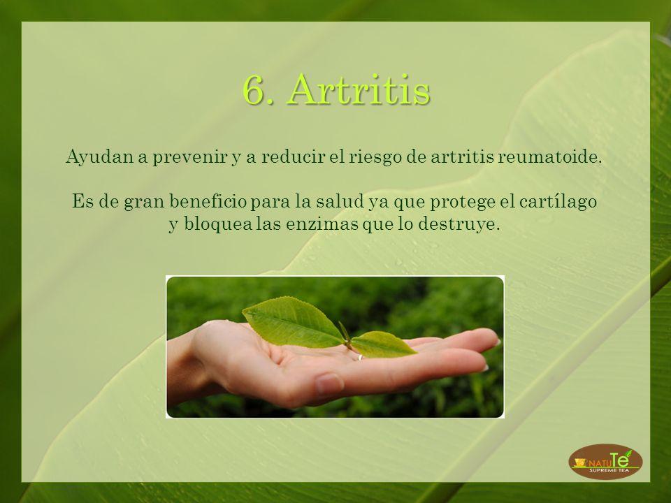 Ayudan a prevenir y a reducir el riesgo de artritis reumatoide.