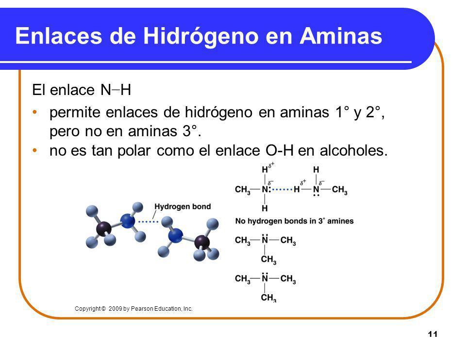 Enlaces de Hidrógeno en Aminas