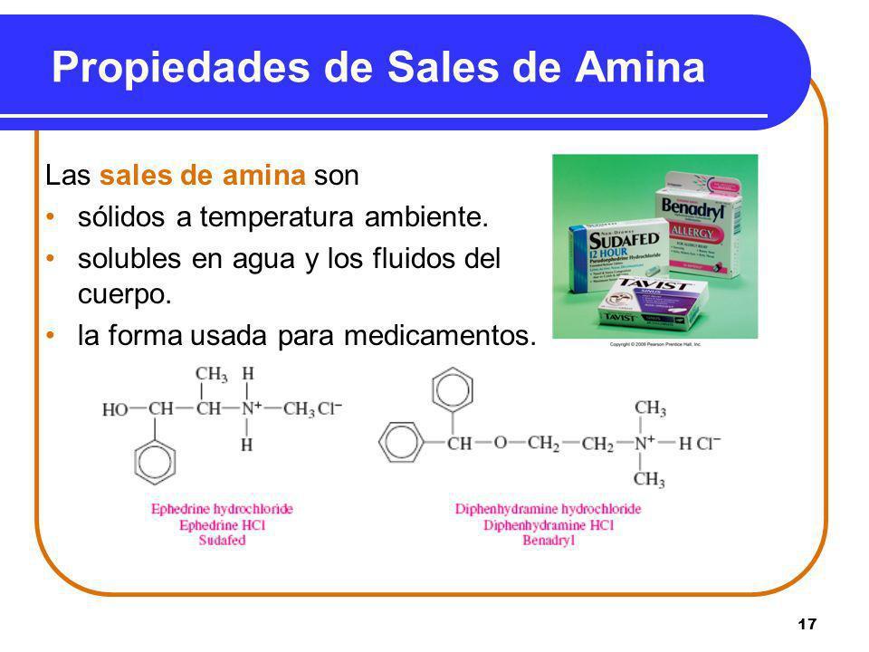 Propiedades de Sales de Amina
