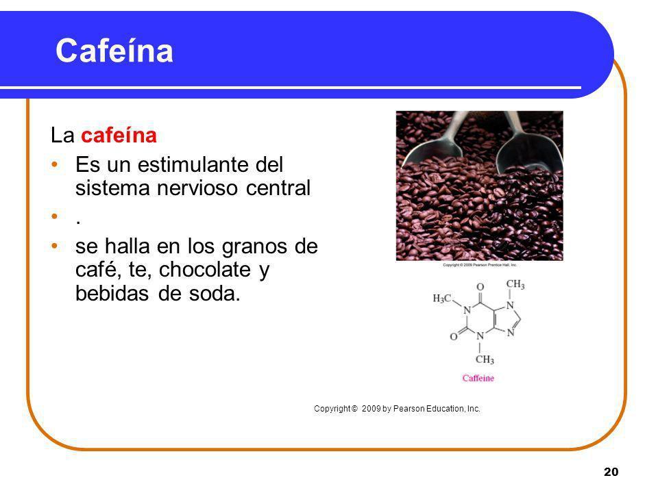 Cafeína La cafeína Es un estimulante del sistema nervioso central .