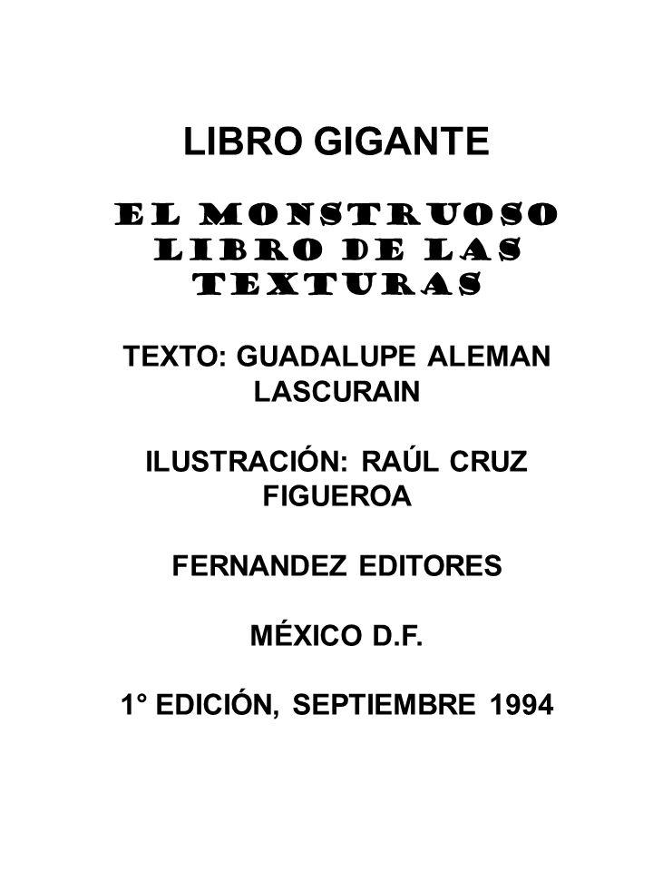 LIBRO GIGANTE EL MONSTRUOSO LIBRO DE LAS TEXTURAS