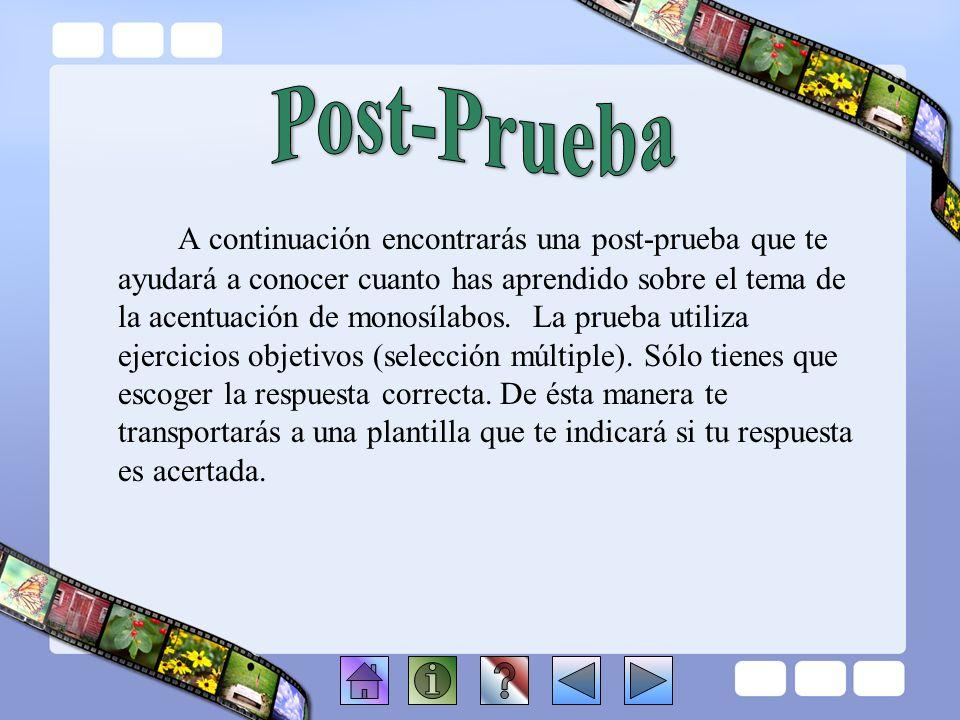 Post-Prueba
