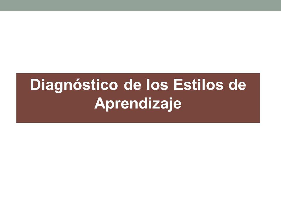 Diagnóstico de los Estilos de Aprendizaje