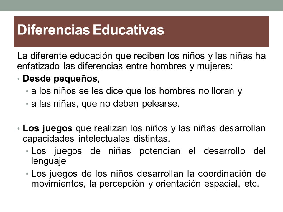 Diferencias Educativas