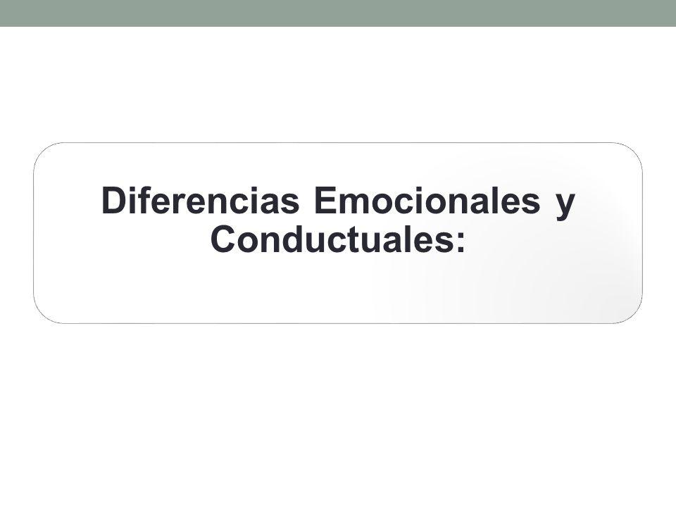 Diferencias Emocionales y Conductuales: