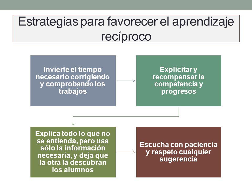 Estrategias para favorecer el aprendizaje recíproco