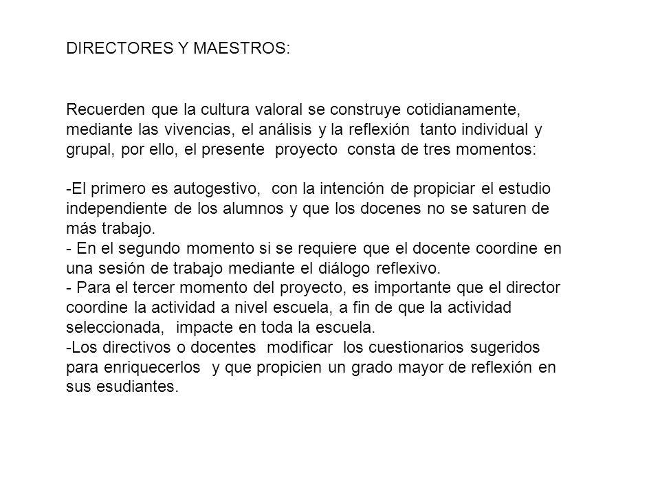 DIRECTORES Y MAESTROS: