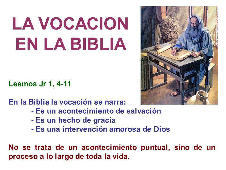 LA VOCACION EN LA BIBLIA