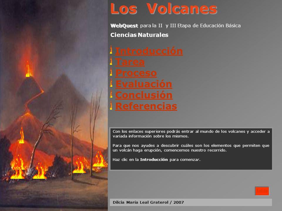 Los Volcanes Introducción Tarea Proceso Evaluación Conclusión