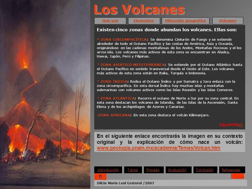Los Volcanes Qué son. Elementos. Ubicación geográfica. Volcanes. Existen cinco zonas donde abundan los volcanes. Ellas son: