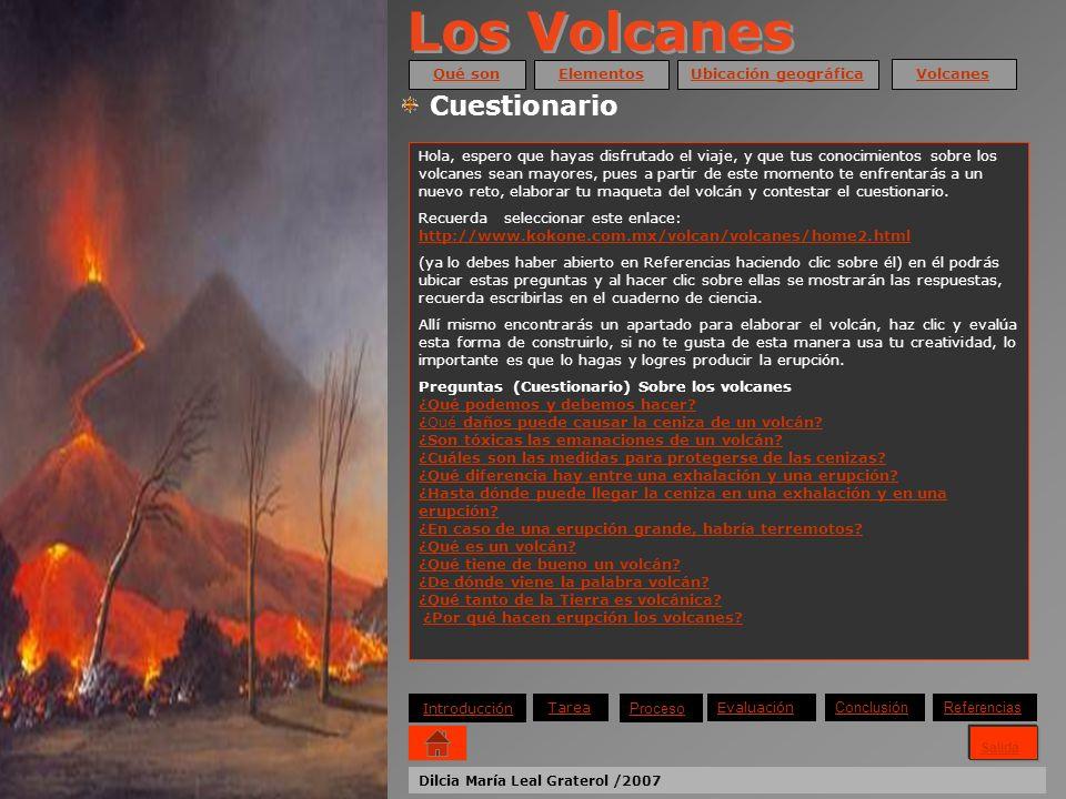 Los Volcanes Cuestionario Qué son Elementos Ubicación geográfica