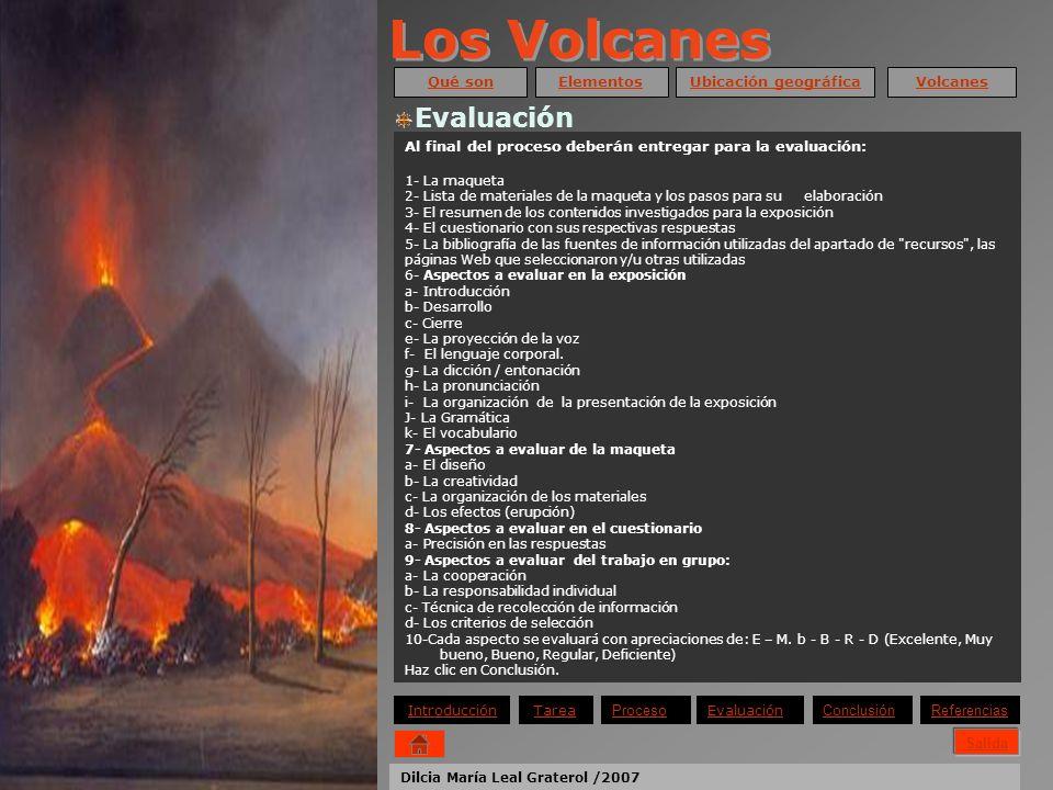 Los Volcanes Evaluación Qué son Elementos Ubicación geográfica