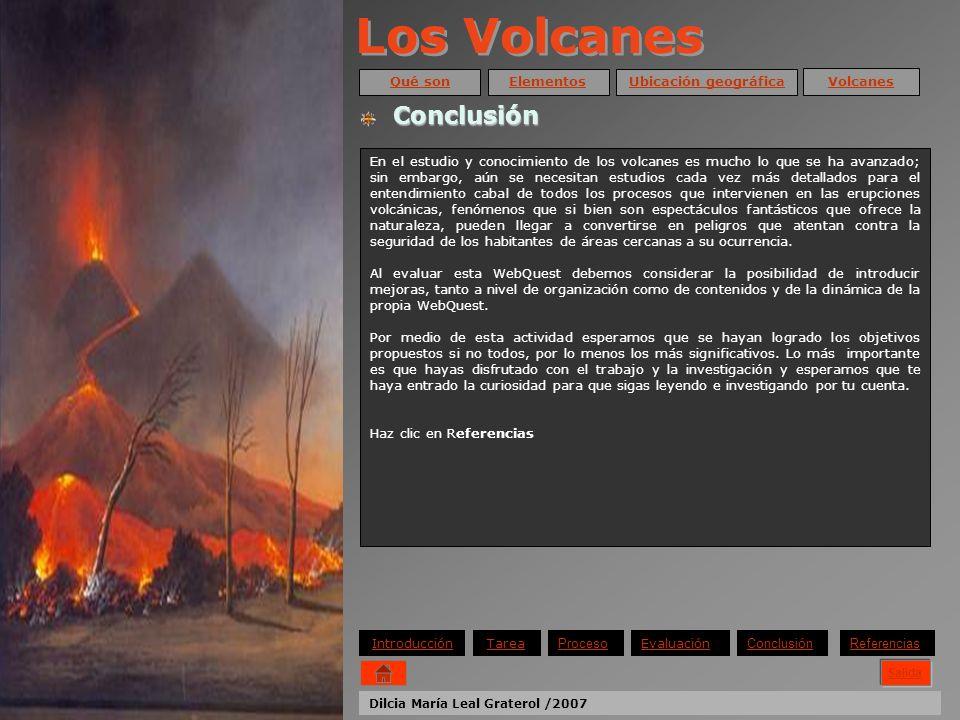 Los Volcanes Conclusión Qué son Elementos Ubicación geográfica