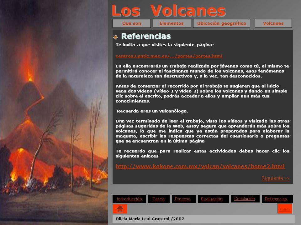 Los Volcanes Referencias Referencias Siguiente >>