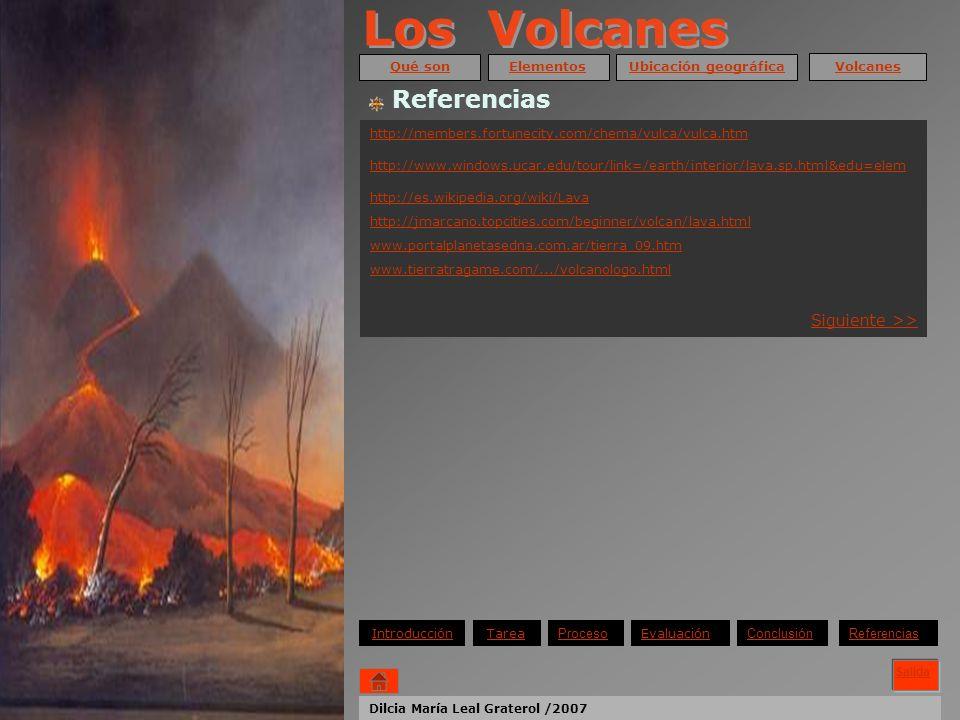 Los Volcanes Referencias Siguiente >> Qué son Elementos