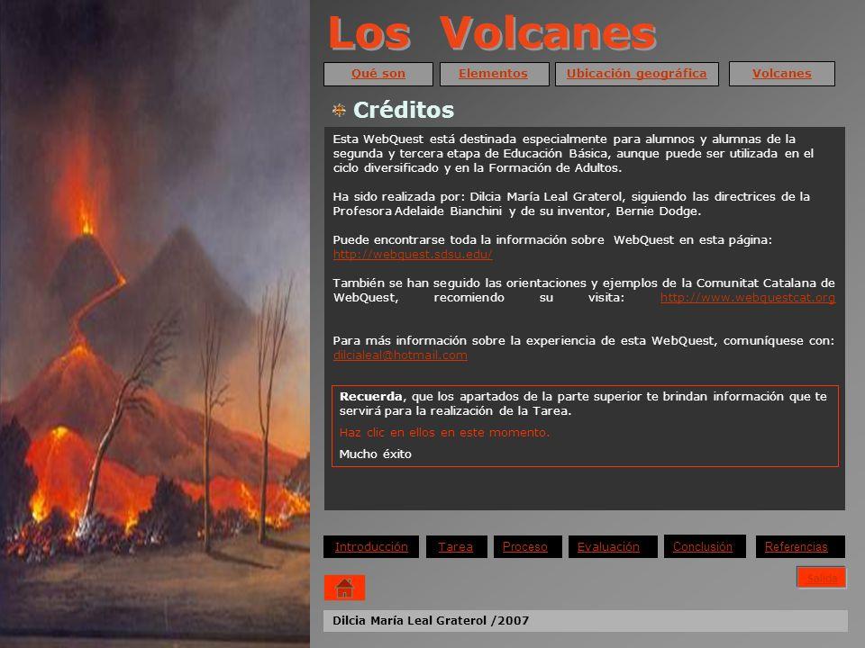 Los Volcanes Créditos Qué son Elementos Ubicación geográfica Volcanes