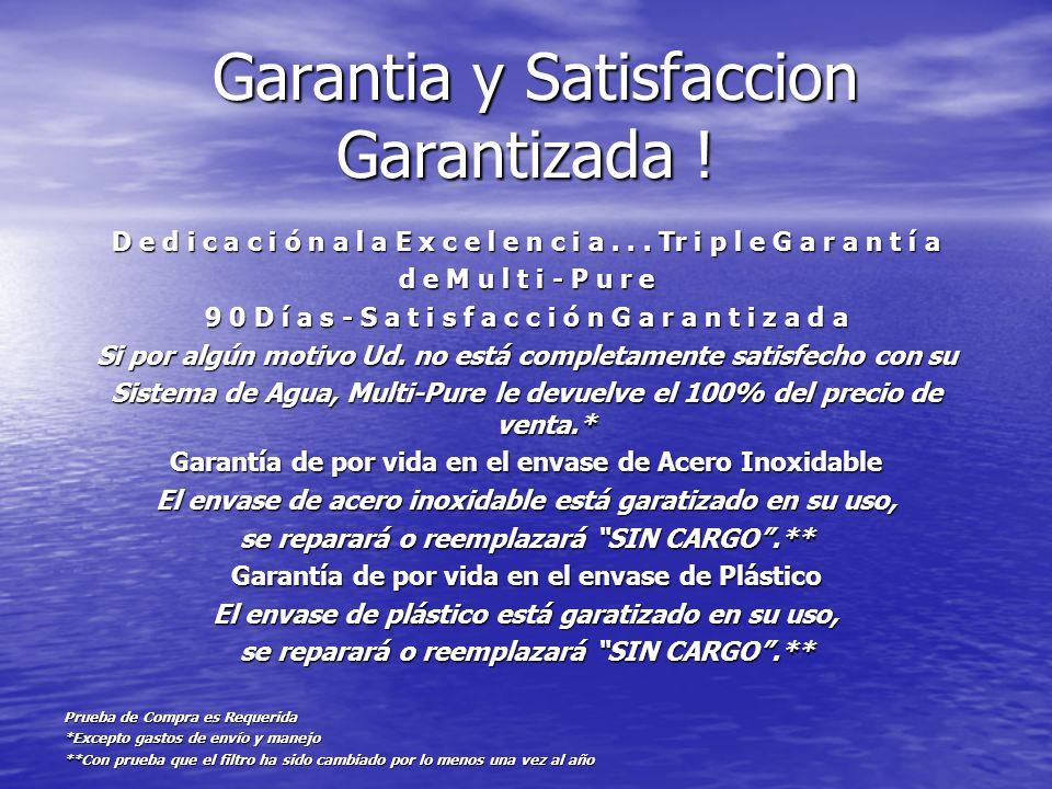 Garantia y Satisfaccion Garantizada !