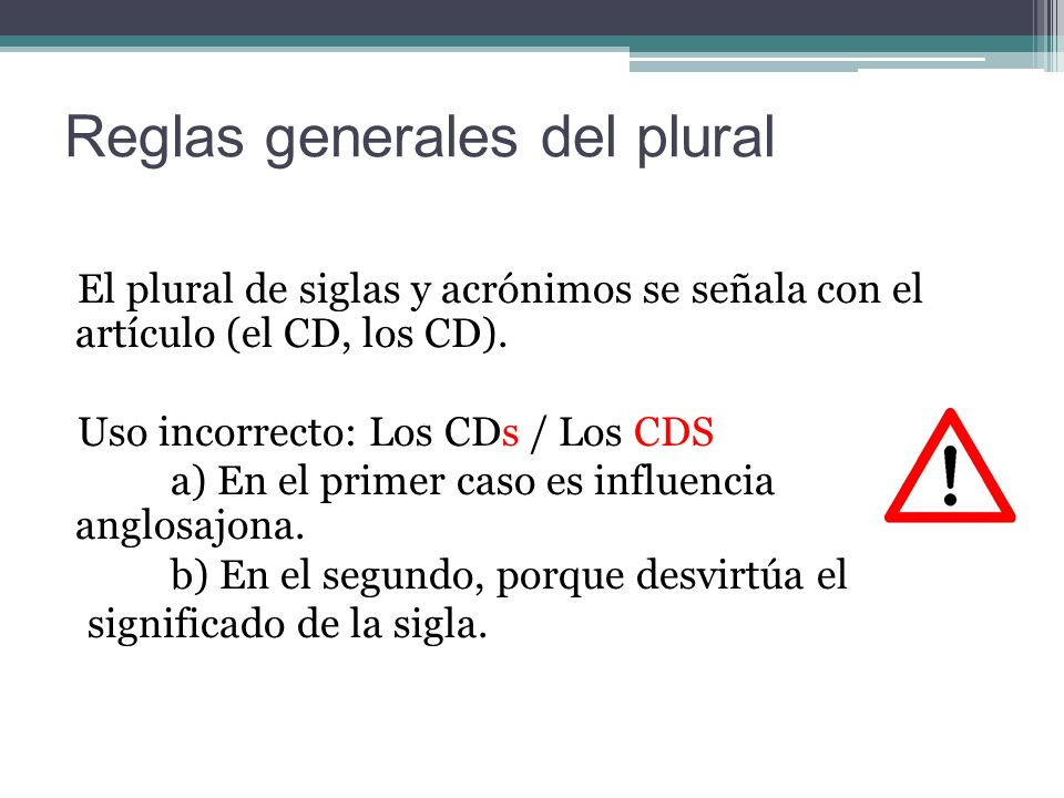 Reglas generales del plural