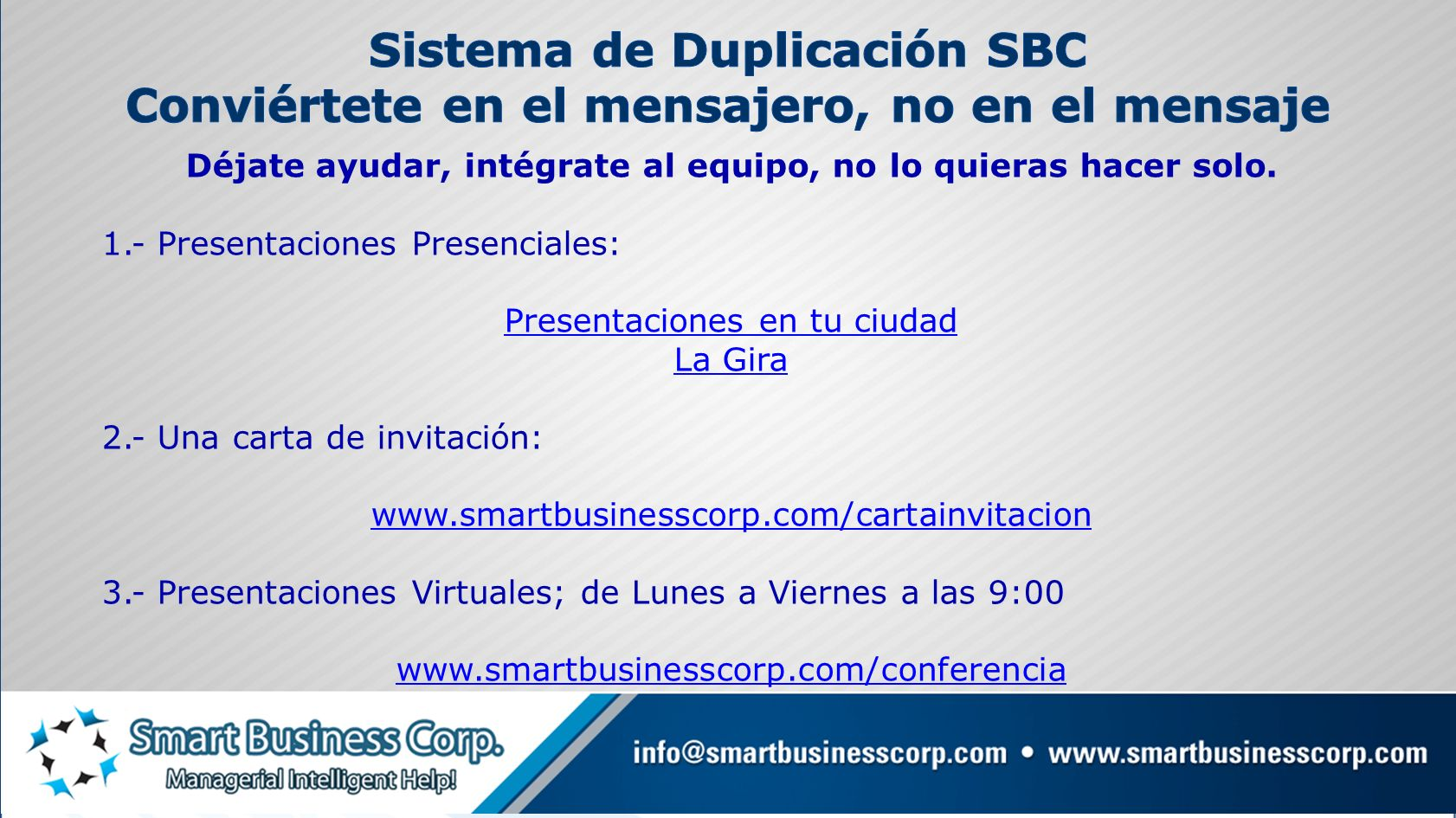 Sistema de Duplicación SBC