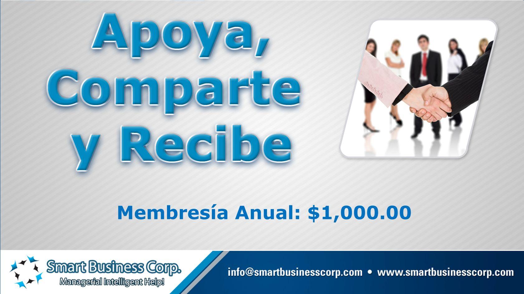 Membresía Anual: $1,000.00