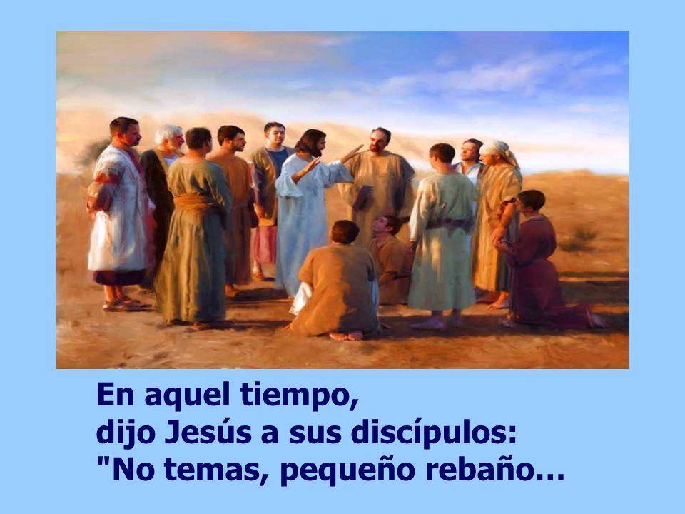 En aquel tiempo, dijo Jesús a sus discípulos: No temas, pequeño rebaño…
