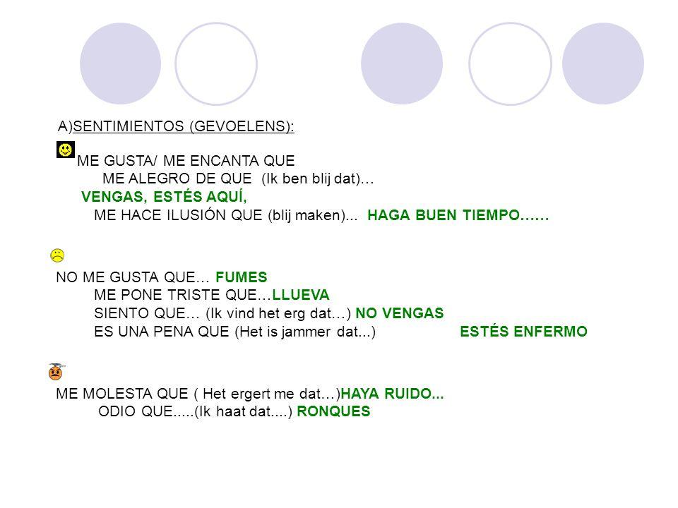 SENTIMIENTOS (GEVOELENS):