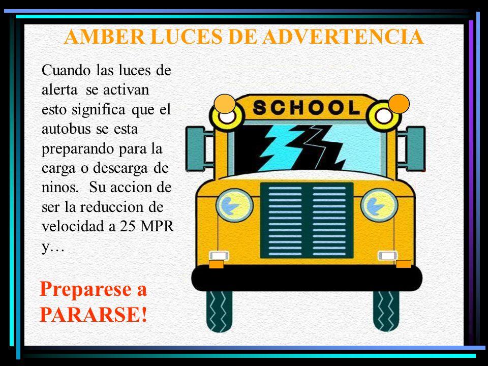 AMBER LUCES DE ADVERTENCIA