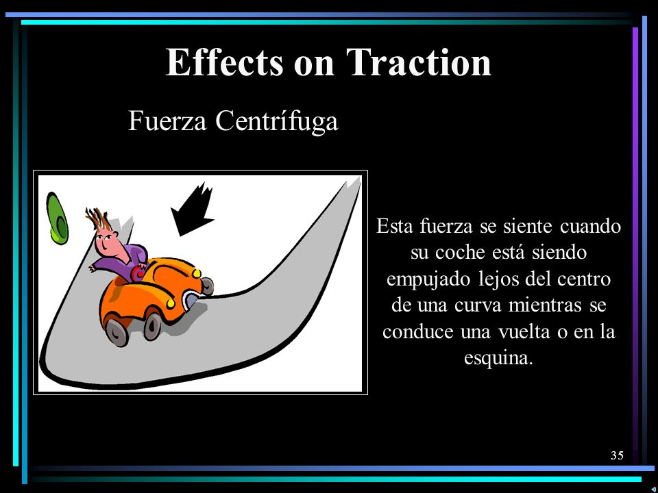 Effects on Traction Fuerza Centrífuga
