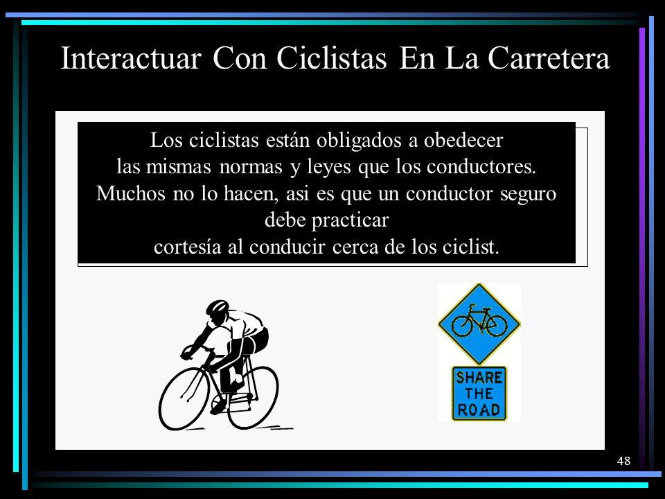 Interactuar Con Ciclistas En La Carretera