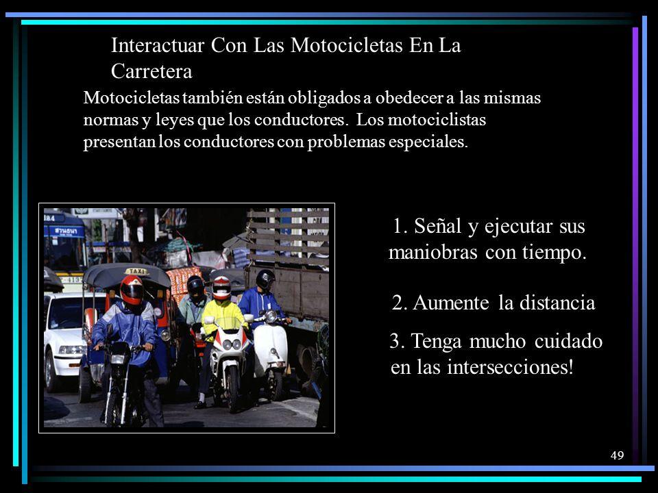 Interactuar Con Las Motocicletas En La Carretera
