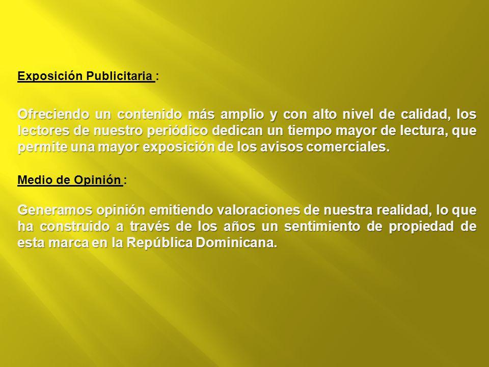 Exposición Publicitaria :