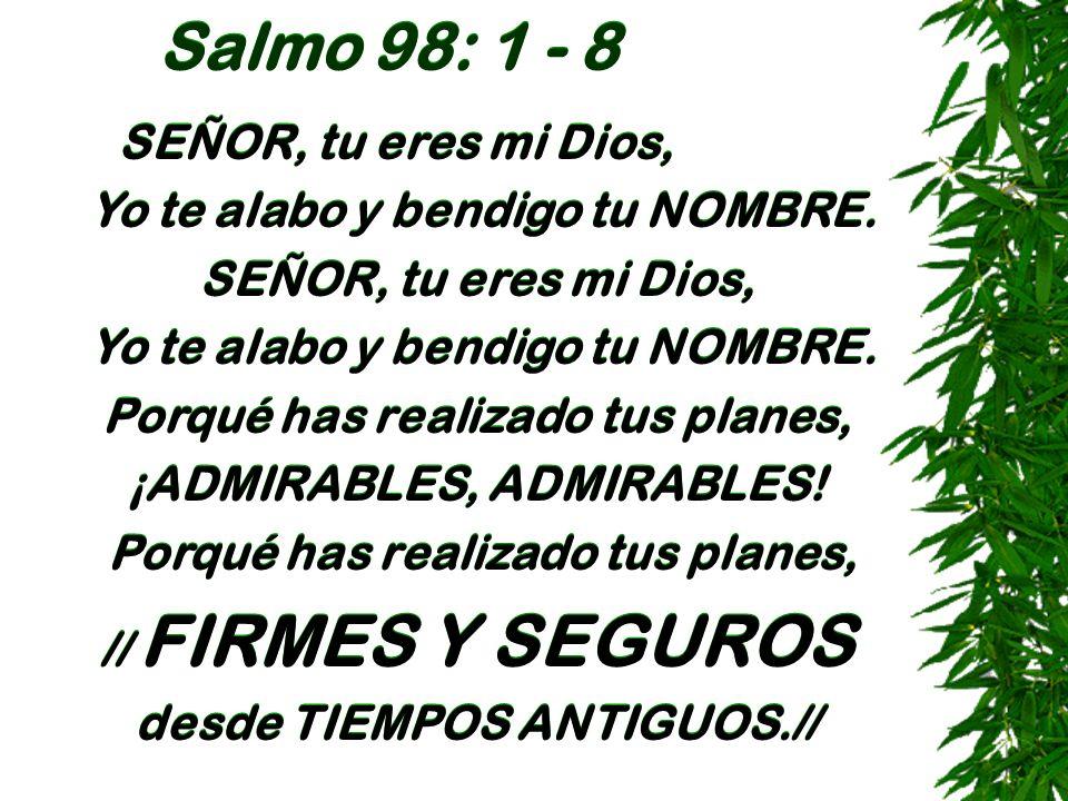 Salmo 98: 1 - 8 SEÑOR, tu eres mi Dios,