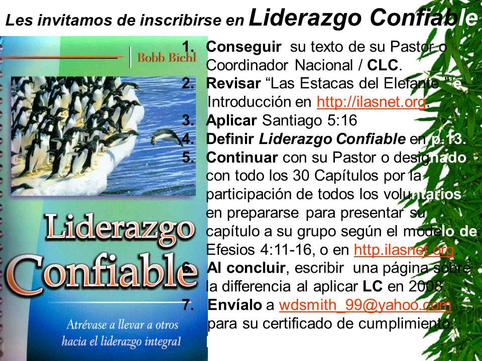 Les invitamos de inscribirse en Liderazgo Confiable