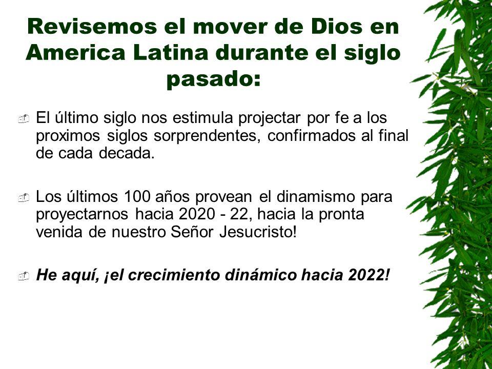 Revisemos el mover de Dios en America Latina durante el siglo pasado: