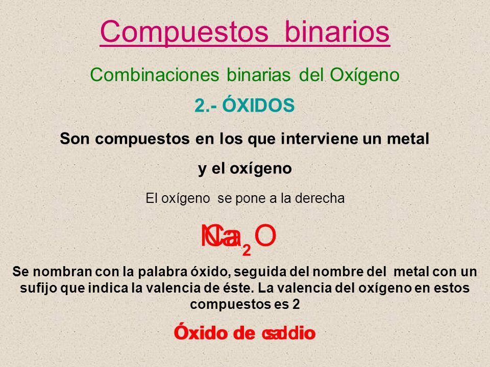 Son compuestos en los que interviene un metal