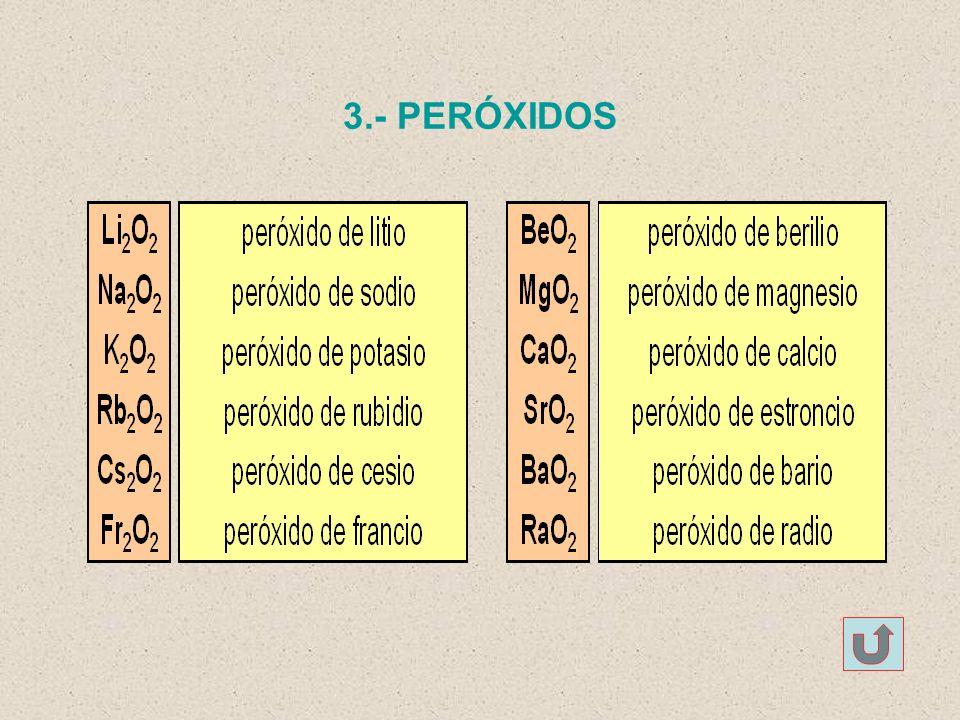 3.- PERÓXIDOS
