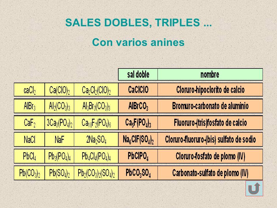 SALES DOBLES, TRIPLES ... Con varios anines