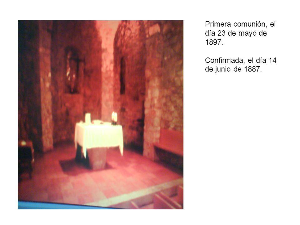 Primera comunión, el día 23 de mayo de 1897.