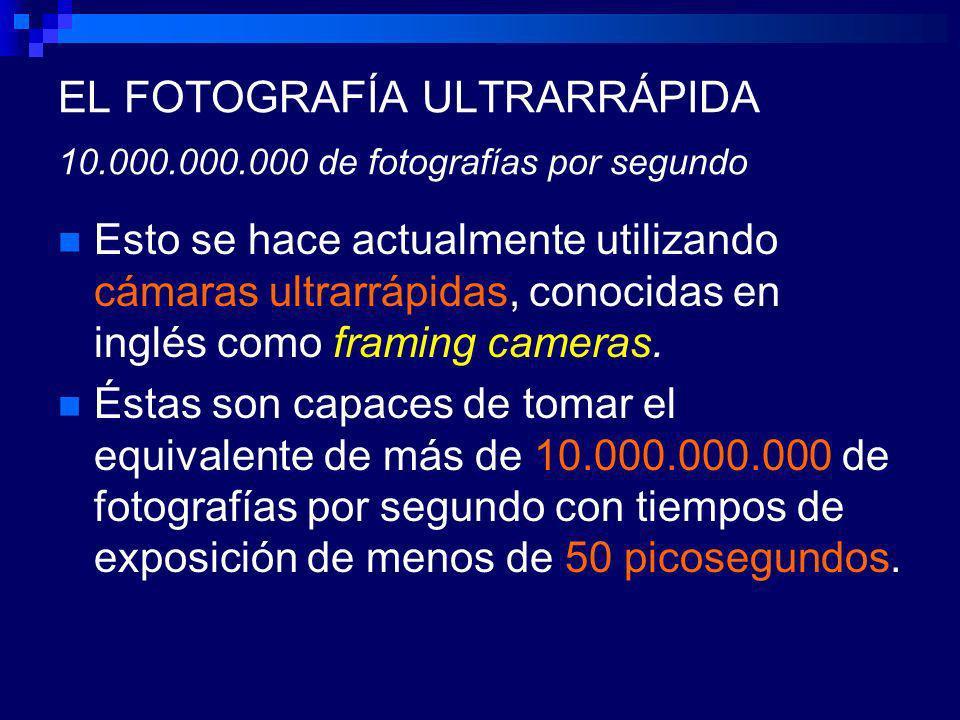 EL FOTOGRAFÍA ULTRARRÁPIDA 10.000.000.000 de fotografías por segundo