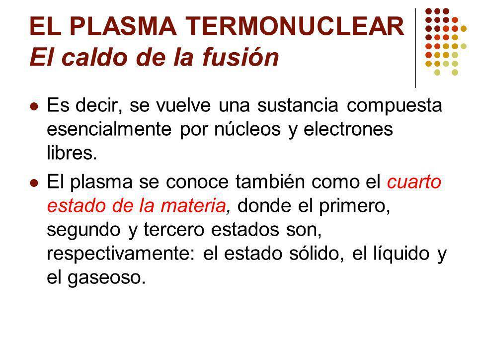 EL PLASMA TERMONUCLEAR El caldo de la fusión