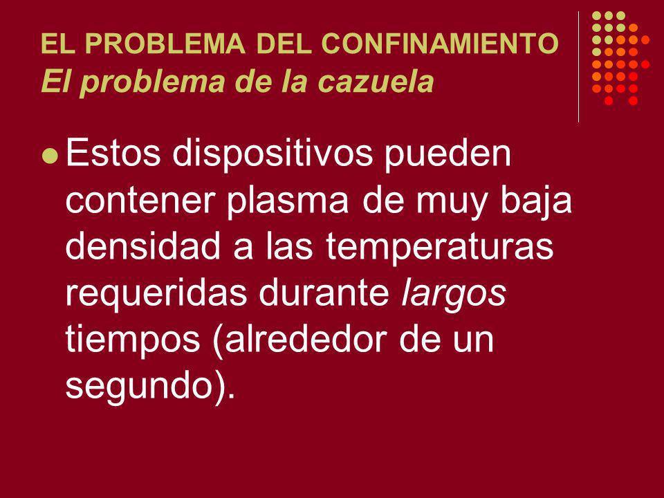 EL PROBLEMA DEL CONFINAMIENTO El problema de la cazuela